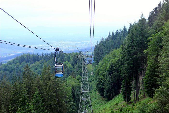 Funicular que conecta Friburgo con la Selva Negra