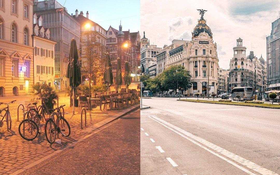 ¿Cuánto cuesta vivir en Friburgo vs Madrid?